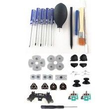 Инструменты для ремонта PS4, Набор отверток, прецизионный инструмент для разборки с набором для ремонта, пусковые кнопки, 3D Аналоговый джойстик для PS4