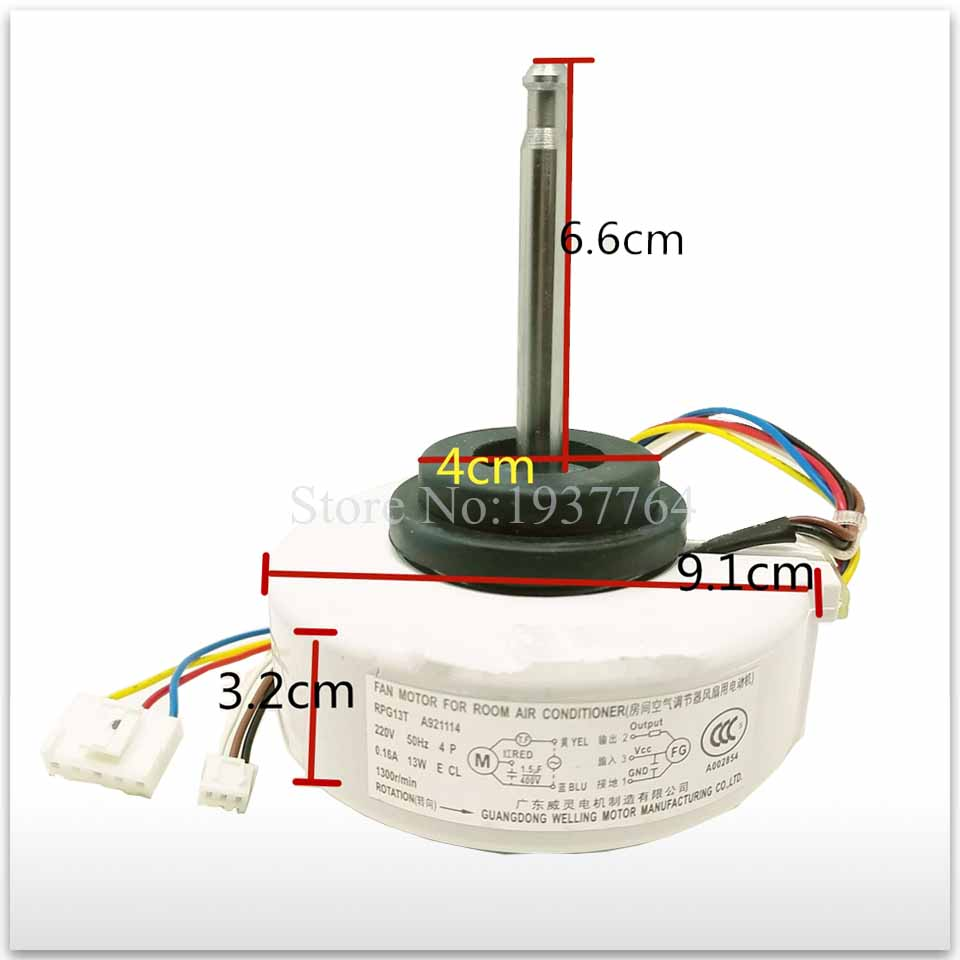 100% new for air conditioner motor RPG13T A921114 13W T26N4P Fan motor good working100% new for air conditioner motor RPG13T A921114 13W T26N4P Fan motor good working