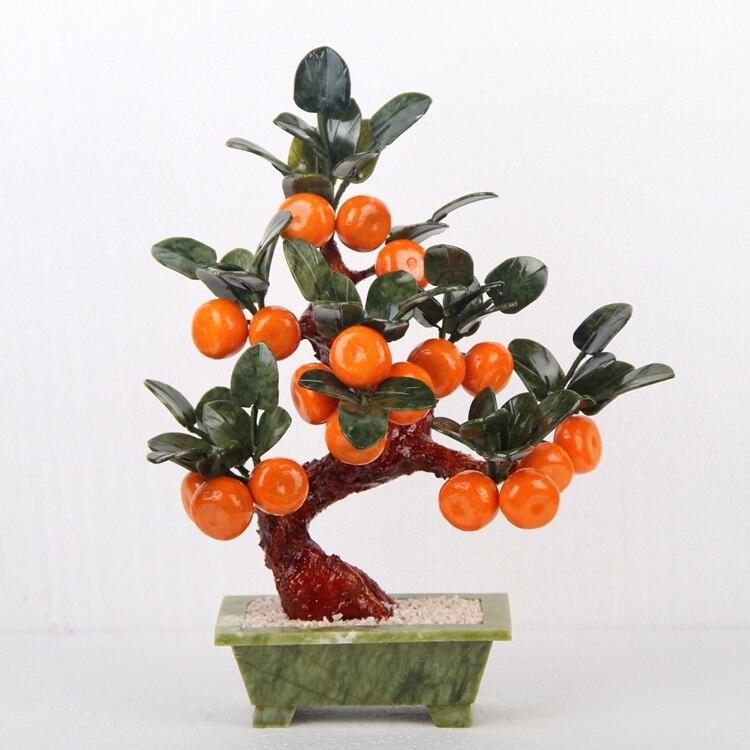 TV cabinet Decoration jade bonsai 18 small orange tree Home Furnishing jewelry ornaments jewelry jewelry hotel room