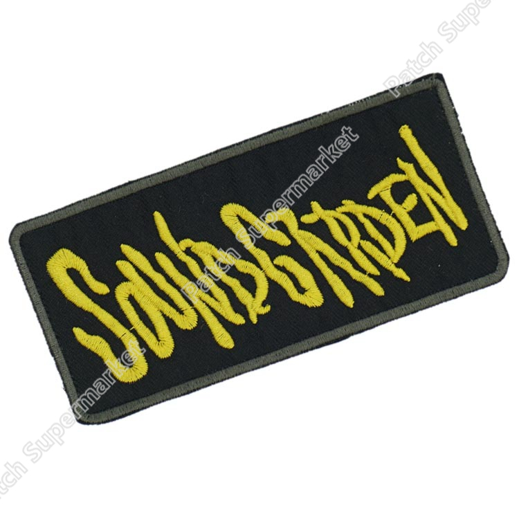SOUNDGARDEN Gold Logo Grunge Music Band Embroidered NEW IRON ON and SEW ON Patch Heavy Metal
