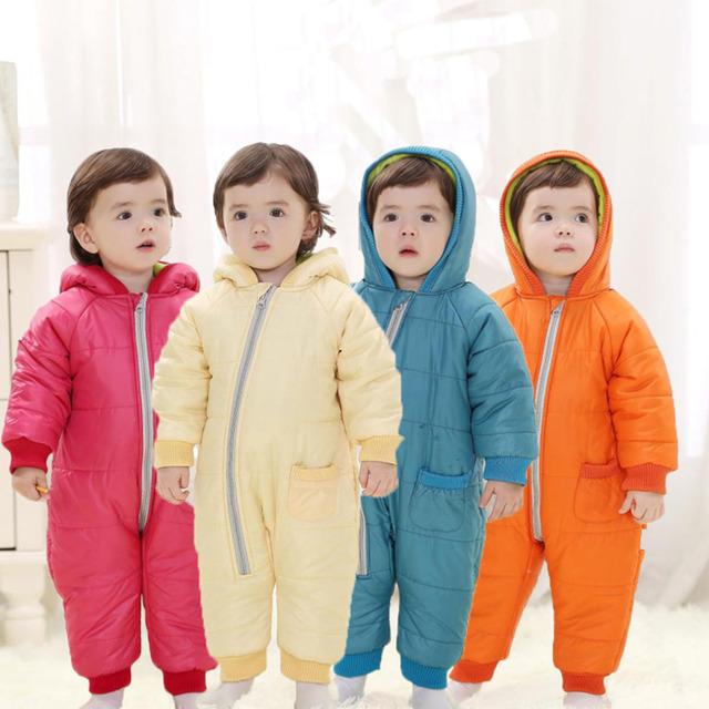 100% Brand New Kids Invierno A Prueba de Frío Edredón Mono Traje Espacial Traje Para La Nieve Mono