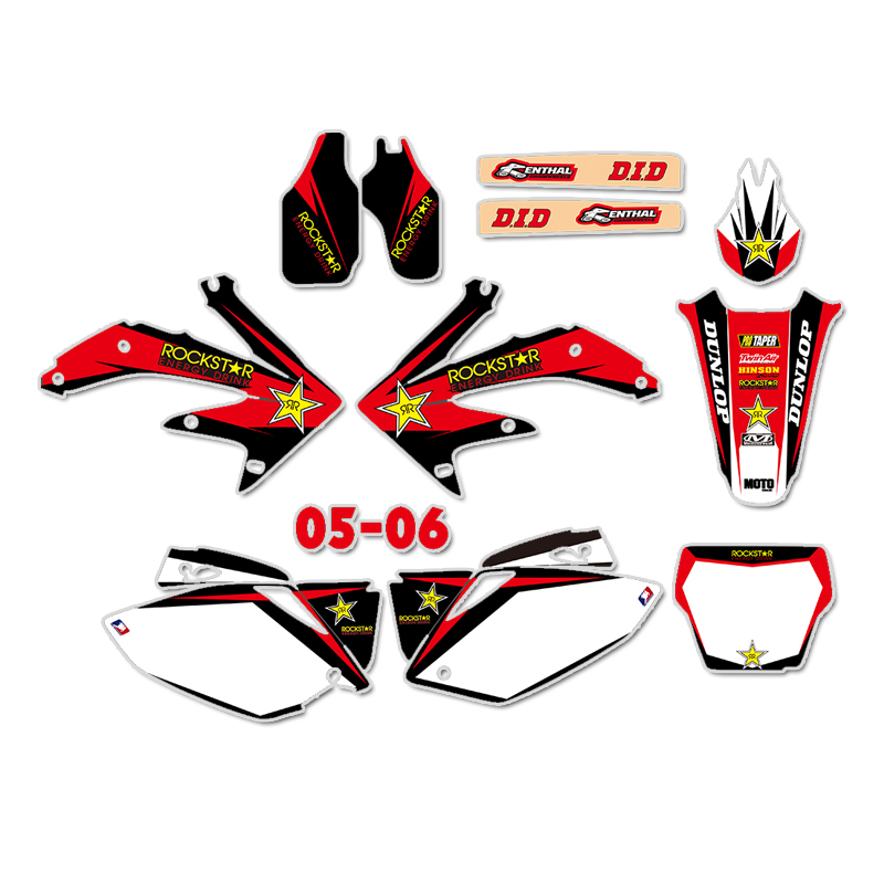 GRAPHICS BACKGROUNDS DECALS STICKERS Kits for Honda CRF450 CRF450R 2005 2006 CRF 450 450R