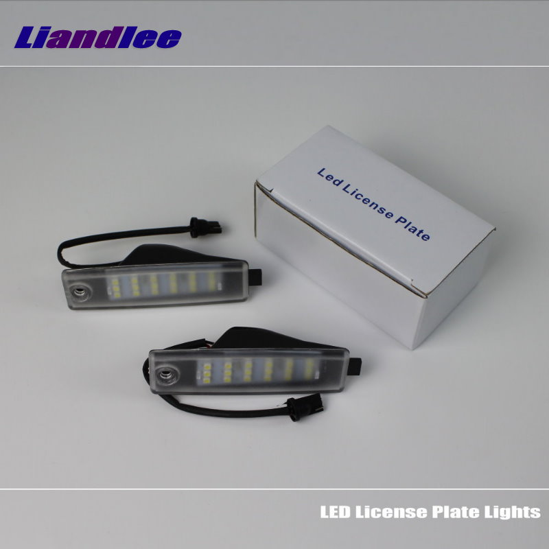 Liandlee For Toyota Highlander / Kluger 2006~2014 / LED Car License Plate Light / Number Frame Lamp / High Quality LED Lights