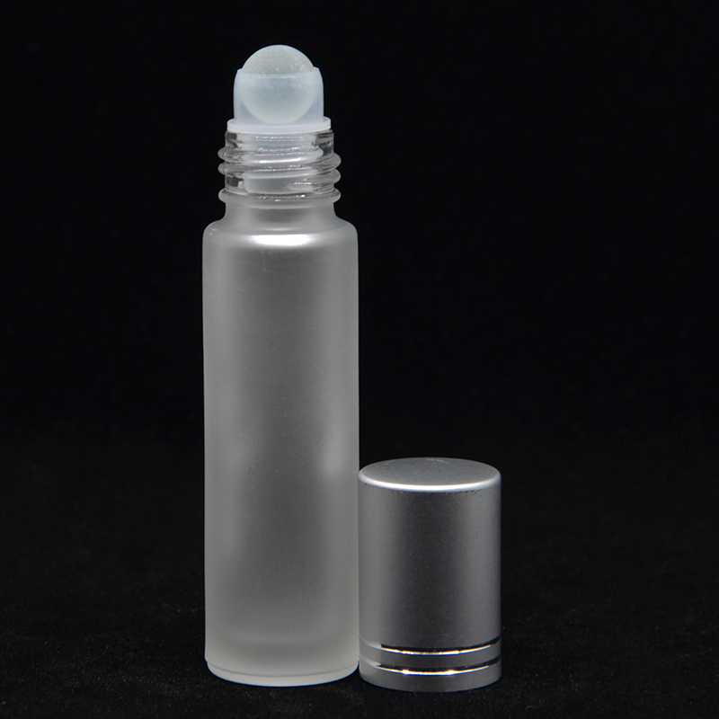 1pcs 10ml Thick Amber Glass Roll On Essential Oil Empty Perfume Bottle 10cc Stainless Glass  Roller Ball Free Shipping
