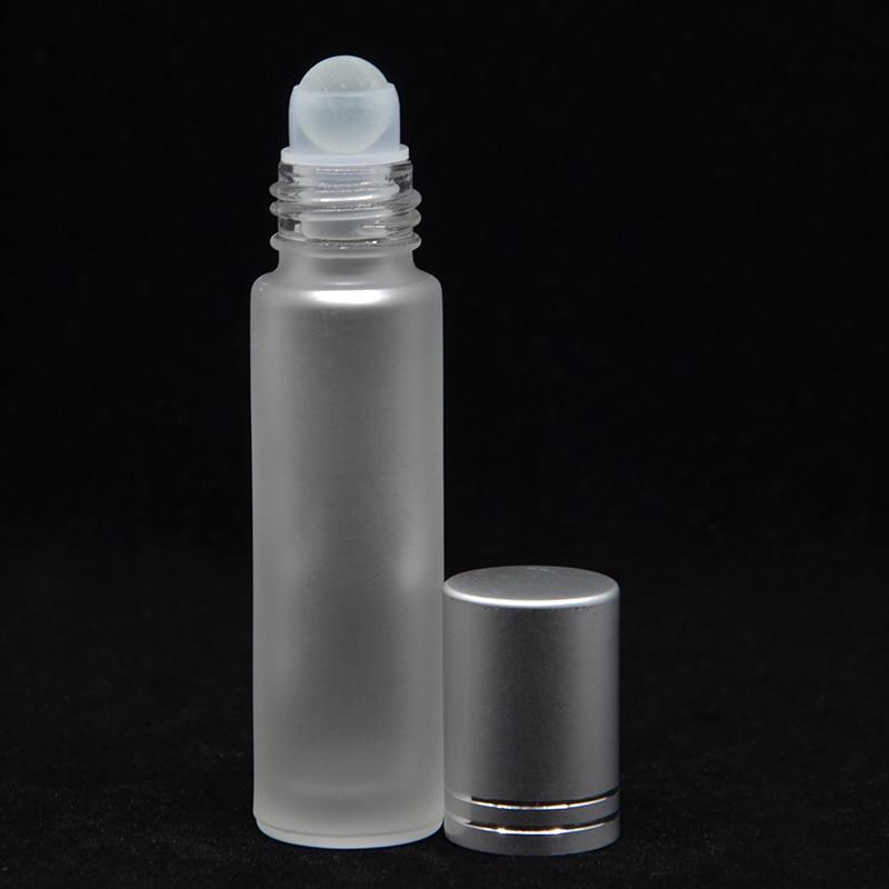 1 stks 10 ml Dikke Amber Glas Roll Op Essentiële Olie Lege Parfumfles 10cc Roestvrij Glazen Roller Ball Gratis Verzending