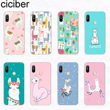 ciciber For Xiaomi For Redmi Note 7 5 6 4 3 Pro X A Soft TPU Phone Case Funny Alpaca Redmi 6 5 4 3 A X S Plus Pro S2 Funda Capa(China)