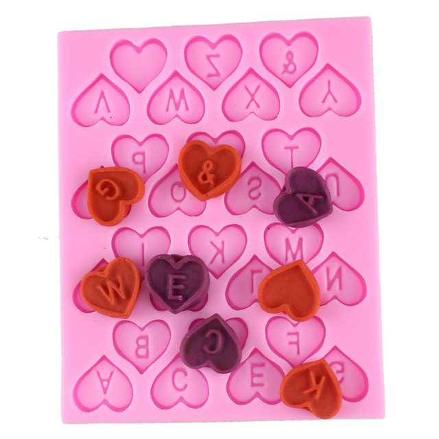 Aliexpress.com : Buy Cooking Love 26English letters Silicone mold ...