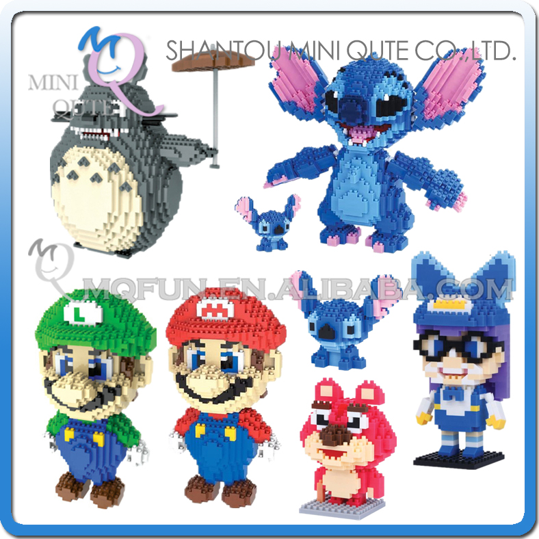 Mini Qute WTOYW HC cartoon super mario game anime diamond plastic building blocks brick action figures model educational toy
