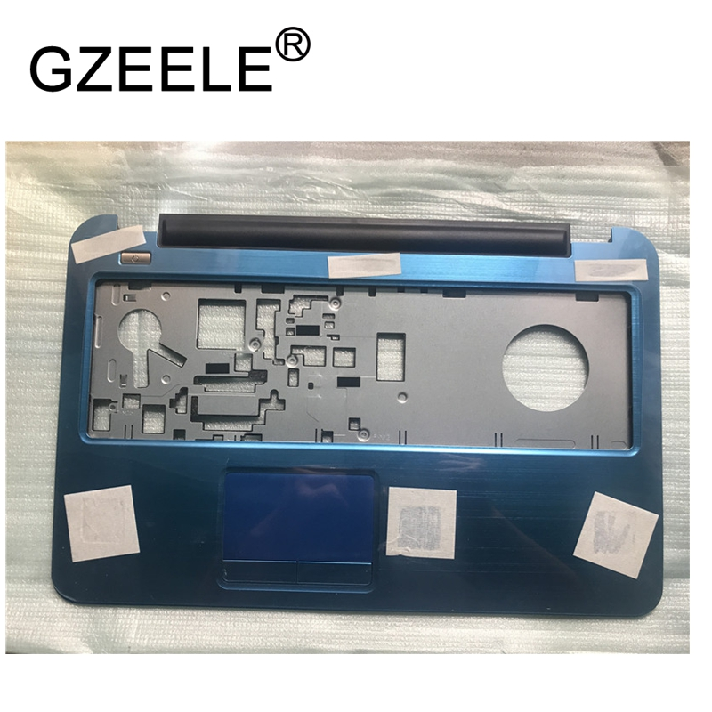 GZEELE New Laptop Palmrest Touchpad TOP Cover For Dell Inspiron 17R 17 5721 5737 upper case with touchpad blue N7XM6 0N7XM6 new notebook laptop keyboard for dell inspiron 17r 5721 5737 backlit french layout