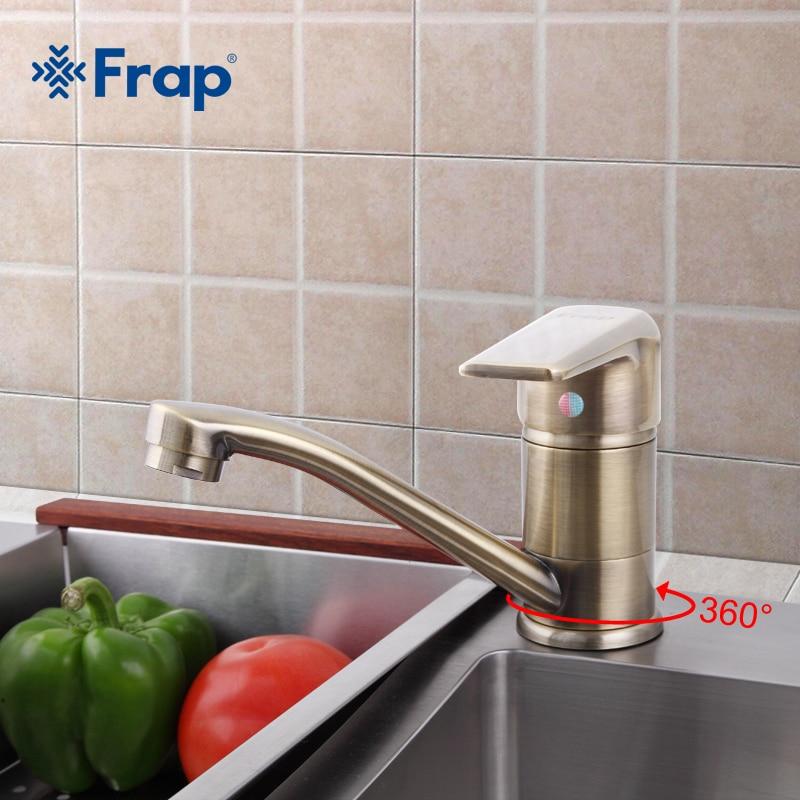Frap Kitchen taps cozinha faucet Antique Brass Kitchen Faucet Single Handle Mixer Tap F4530 4 F4930