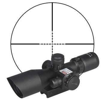 Hunting Rifle Scope 2.5-10x40e Red&Green Illuminated Crosshair Sniper Gun Optics Sight Riflescopes Electro Red Dot Sight