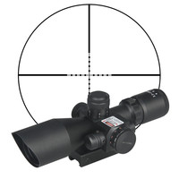 Hunting Rifle Scope 2.5 10x40e Red&Green Illuminated Crosshair Sniper Gun Optics Sight Riflescopes Electro Red Dot Sight