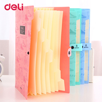Deli Cute Stationery File Folder A4 8index Waterproof Expanding Wallet Convenient Manage Paper Holder Document Expanding