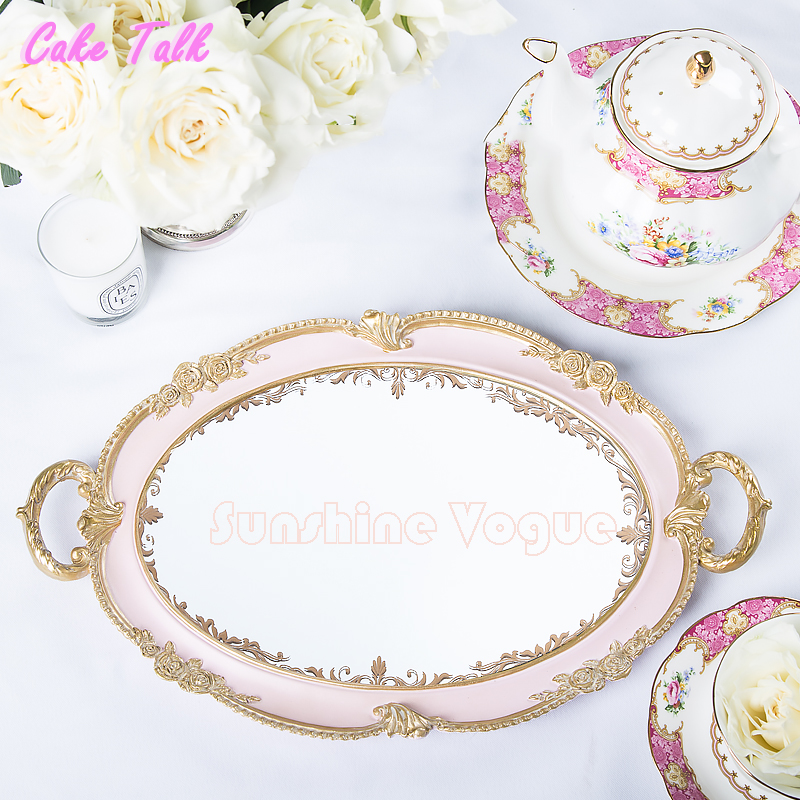 wedding cake tray European vintage ancient dessert plate candy bar decoration cake tool for food