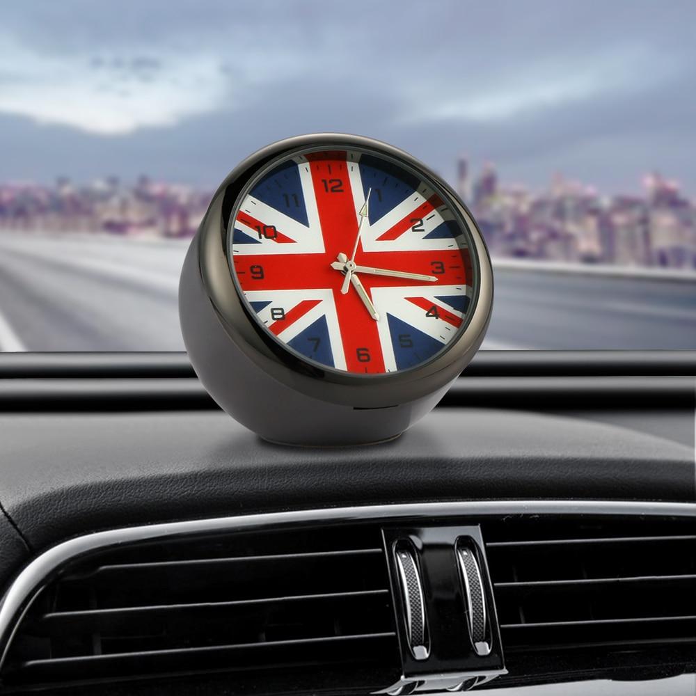 Car Ornament Mini Automobiles Clock Decoration Auto Watch ...