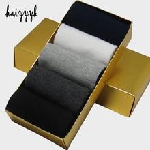 Business men's socks compression calcetines hombre plain classic sock men breathable solid cotton socks 10pcs=5pairs/lot No Box