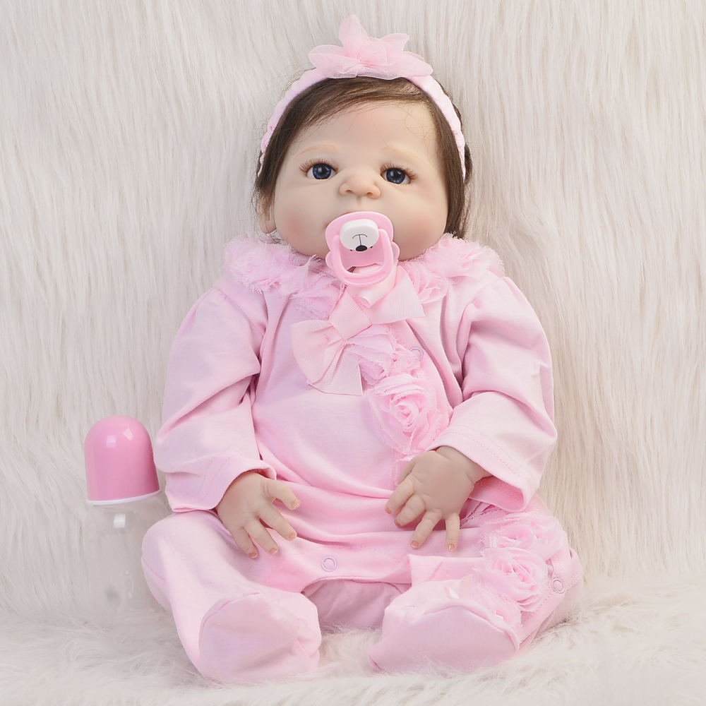 NPK High-quality 23'' Full Silicone Vinyl Reborn Baby Dolls Truly Girl with Fiber Hair Baby Doll Toy Real Life Princess For Sale