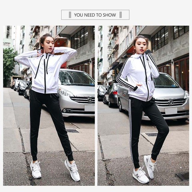 Ropa Deportiva mujer conjuntos gym camisetas yoga set sport suit  hooded sports wear for women gym plus size fitness clothing 1