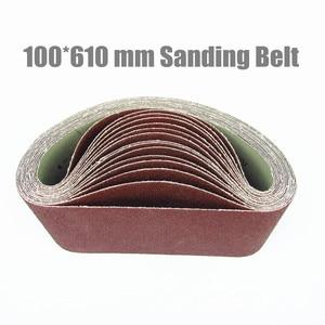 """Image 1 - 10 Stks 100*610mm Schuren Riem 4 """"* 24"""" schurende Band 100*610mm Aluminium Oxide Voor Hout (Grit 36 40 60 80 100 120 180 240 320 400)"""