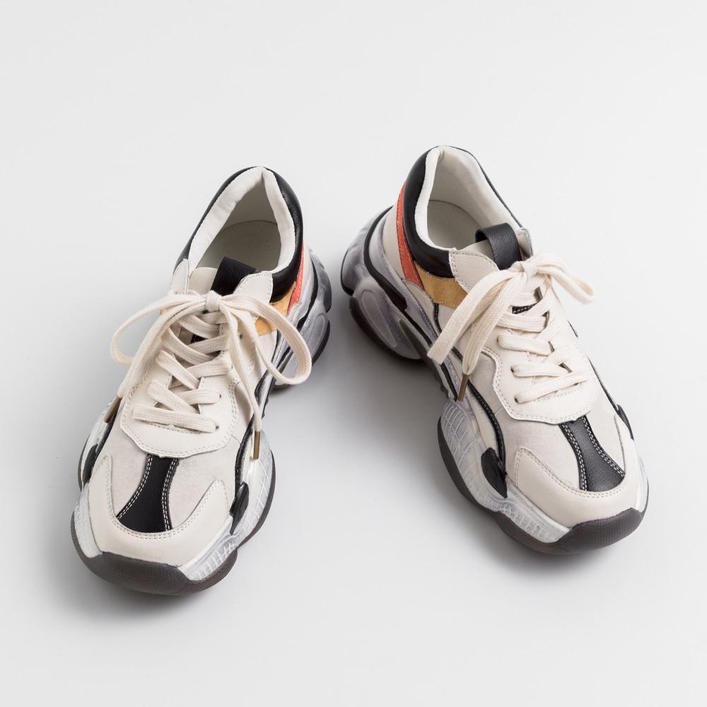 Cdpundari Appartements Plates Up Cuir Beige Femme Femmes formes Dentelle Casual Sneakers En noir Chaussures Véritable Dames Plates PwrHnPqYp