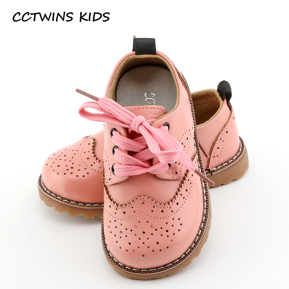 CCTWINS-KIDS-2017-spring-autumn-child-pink-flat-genuine-leather-toddler-fashion-shoe-baby-girl-brand-loafer-oxford-white-G9771-1