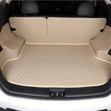 Hlfntf пользовательские багажник автомобиля Коврики для Nissan Все модели Qashqai Juke Qashqai Almera патруль GT-R X-Trail cefiro Fuga Quest автомобиля Коврики