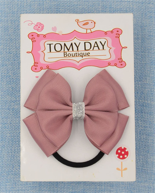22 Color  Elastic Hair Bands Solid dots  bow PonyTail Holder hair ties Headband Hairband for girl  Hair Accessories