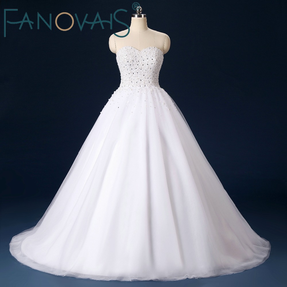 Full Beaded Luxury Wedding Dresses 2019 Beading Pearls Bridal Gowns Sweetheart Ball Gowns Vestido de Novia Vintage Wedding Dress