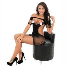 Female Women Erotic Porn Sexy Lingerie Sex Products Seamless Crotch Mini Dress Body Stocking Nightwear Nightdress Costumes
