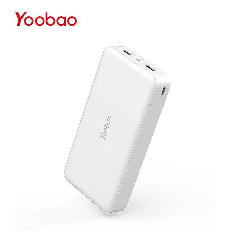 imágenes para Yoobao M20 Cargadores Portátiles 20000 mAh Paquete Externo de La Batería 3A Dual Salida USB Banco Banco de la Energía para Xiaomi Teléfono Cahregr y más