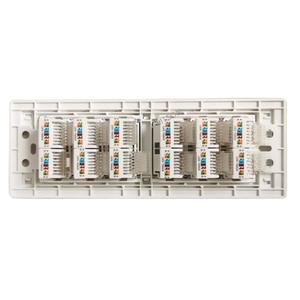 Image 4 - 12 Ports CAT5E KATZE 6 RJ45 Ethernet LAN Wand Panel 118 Typ Internet Gesicht Abdeckung
