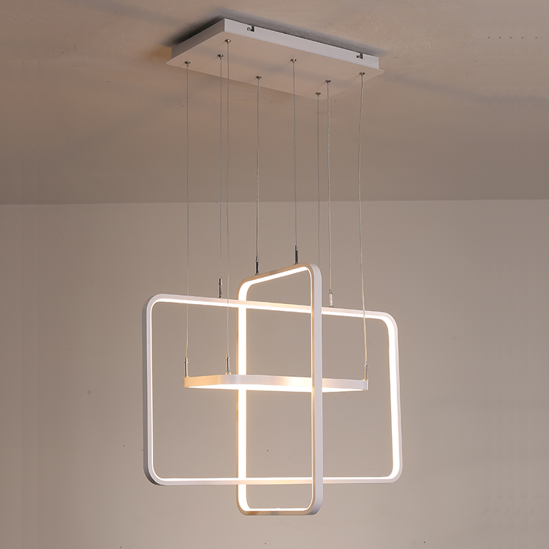 Minimalism Modern LED Pendant Lights for Dining Room Living Room Pendant Lamp Fixtures White Color Aluminum