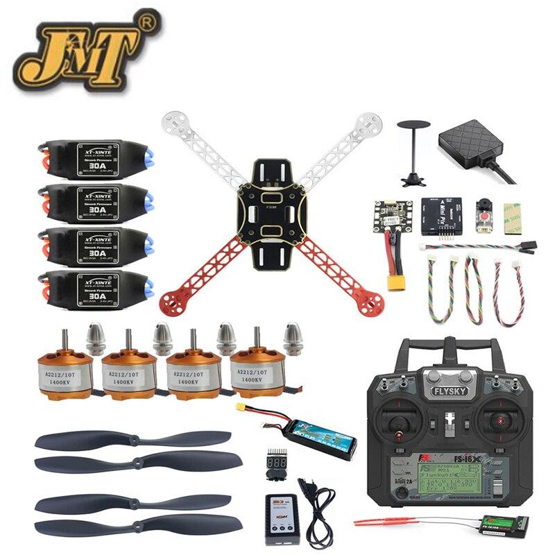цена на JMT DIY Mini F330 Full Set FPV Drone 2.4G 10CH RC 4-Axis Helicopter FS-i6X Remote Mini PIX M8N GPS PIXHAWK Altitude Hold Module