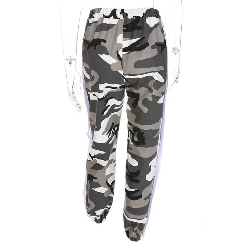 a34fd55dc8 HEYounGIRL Button Split Side Casual Women Camo Pants Capris Streetwear  Camouflage Joggers High Waist Sweatpants Hip Hop Trousers-in Pants & Capris  from ...