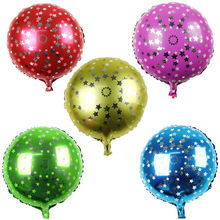 New round aluminum balloons balloon toys for children birthday party equipment Pentagram round balloon wholesale(China)