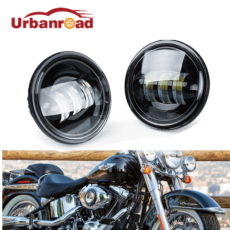 2PCS Round daymaker 4.5 inch motorcycle led fog light headlight head lamp Auxiliary Spot Driving LIght projector lens For Harley 2pcs 150mm big optical pmma plastic round solar condensing compound eye fresnel lens improving brightness of light focal length