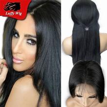 Free Part 7A Brazilian Human Hair Silk Base Wig 4*4 Silk Top Full Lace Wig Silky Straight Lace Front Wig With Natural Hairline