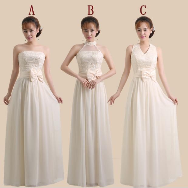 4e806e5babc cheap chiffon champagne bridesmaid robes long princess bridesmaids dresses  for teens under 50 one shoulder elegant a-line D1869