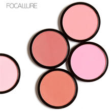 FOCALLURE Face Contour Cosmetics Blush Contour Palette Blusher Cheek Powder Silky Blush Bronzer Beauty Makeup Eyeshadow miss rose brand matte blush palette peach cheek shimmer bronzer singel blusher on contour cosmetics 12 colors face makeup powder