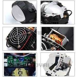 Image 2 - ROYALIN سيارة التصميم العالمي ثنائية جهاز عرض (بروجكتور) ليد المصابيح الأمامية عدسة مع رقاقة 3.0 بوصة عالية و منخفضة شعاع السيارات كشافات ضوء التحديثية