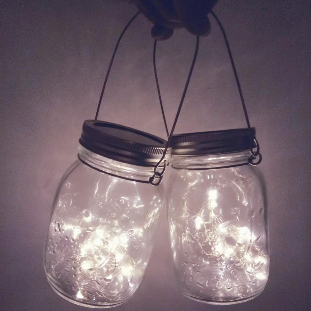 3afdcd33f Dropshipping Wholesale LED Fairy Light Solar Powered For Mason Jar Lid  Insert Color Changing Garden Decor