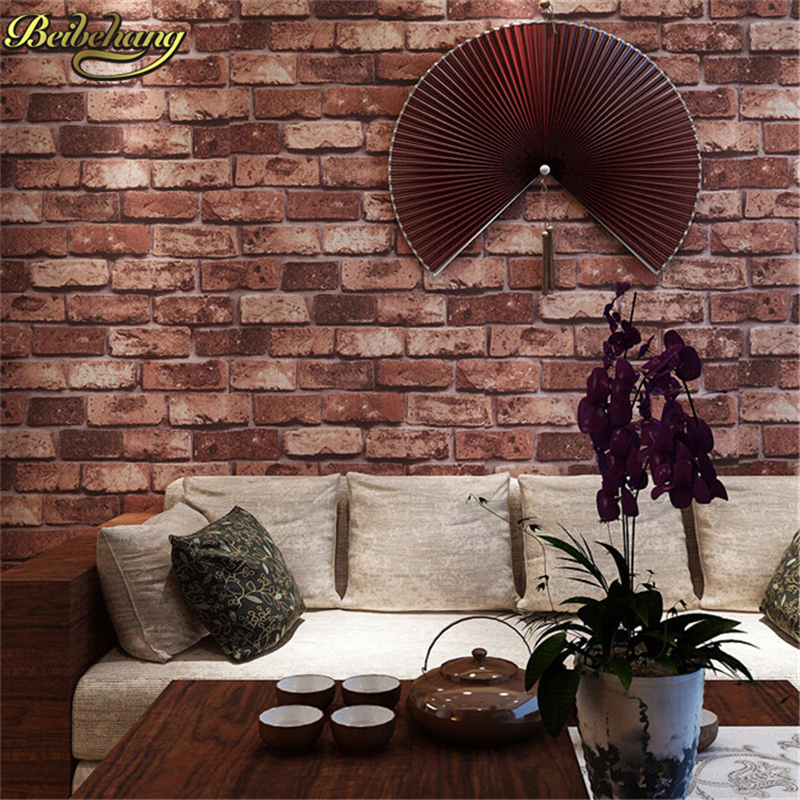 beibehang 3d wallpaper roll modern vintage wall paper mural wall covering for bedroom living room tv background contact paper beibehang Home Decoration wall paper 3D mural Vintage Bricklike Wallpaper Modern Background Living Room Bedroom Wall Paper Roll