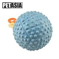 جديد كلب القط لعبة يمضغ الكرة الجديدة المطاط الطبيعي لعبة حلقة دغة التآكل جيدة 9.5 سنتيمتر الحيوانات اللعب الصوت الكرة لعبة الملونة