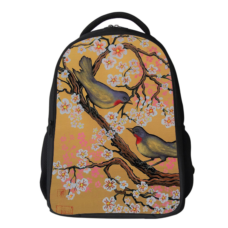 Girls cherry blossom Backpack Kids Oxford Personized School Bag Japanese Lanscape Painting Rucksack Casual Daypack for teenagers (8)