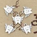 15 шт. Подвески зубы сказочные Зубы 20x18 мм подвеска ручной работы, винтажная тибетская бронза, сделай сам для браслета ожерелья