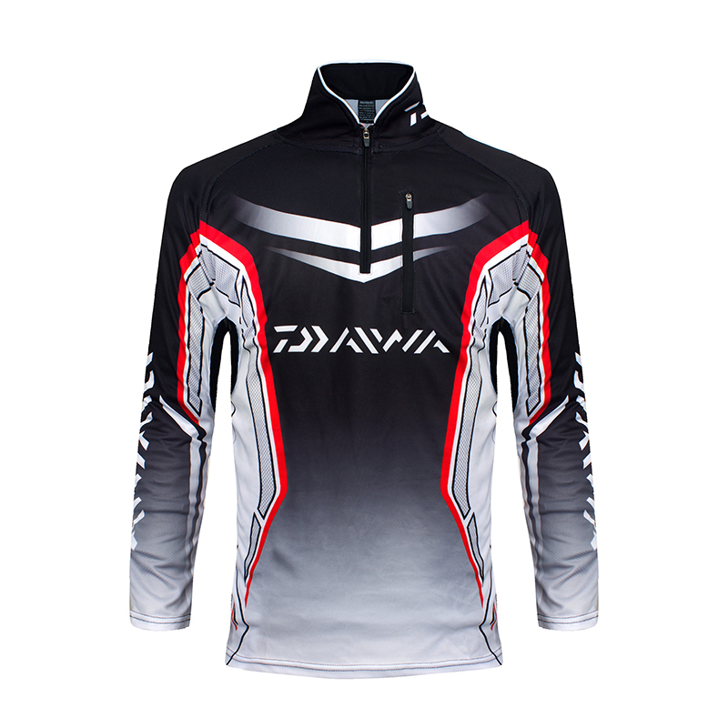 Men brand daiwa dawa fishing clothing camisas pesca uv for Fishing t shirts brands
