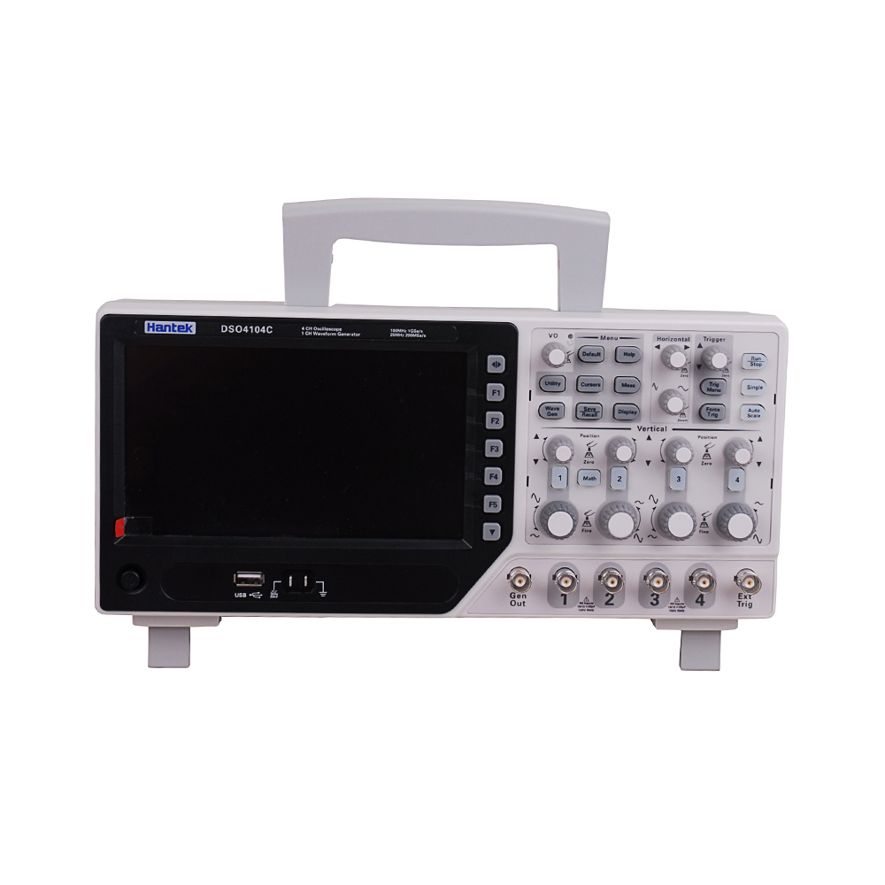 Hantek DSO4104C 100MHz 4 Channels 1GS/s EXT+AFG+DVM+Auto Range Function LCD Display Oscilloscope image