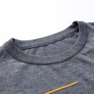 Image 5 - Liseaven zimowy sweter męski marka sweter na co dzień męski O Neck Slim Fit Knitting męskie swetry męskie topy