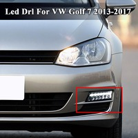 1Pair 2 Style LED 12V DRL For VW Golf 7 MK7 2013 2014 2015 2016 2017 Daytime Running Light Fog Lamp Driving Headlights Styling