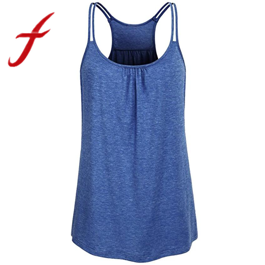 Women's solid tank tos sexy baceless scoop neck workout fitness tank top camis blouse vest cropped regata feminino 2019